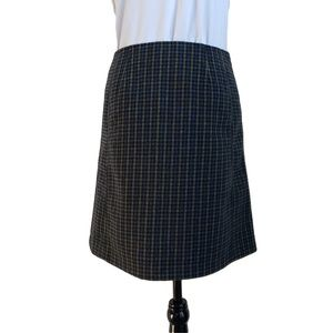 NWT TOM TAILOR Lined Retro Green Blue Wool Skirt 4